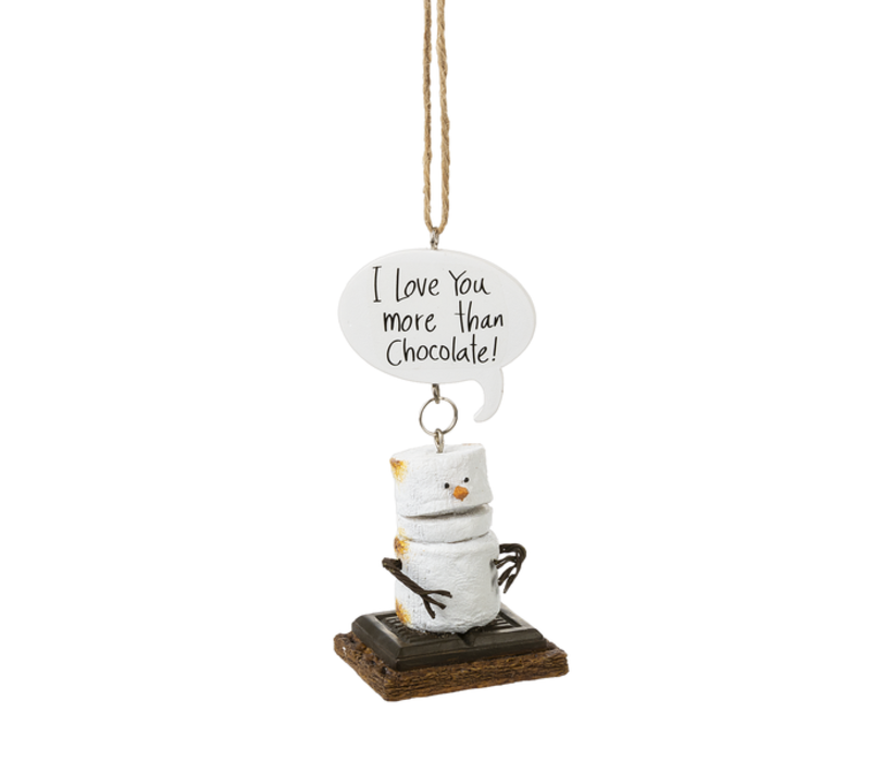 I Love You More Than Chocolate Toasted S'mores Ornament