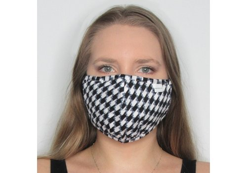 Papillon Houndstooth Double Layer Cotton Face Mask
