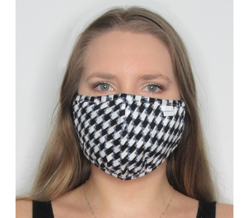 Houndstooth Double Layer Cotton Face Mask
