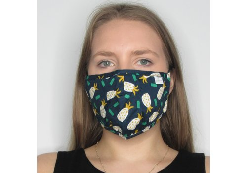 Papillon Pineapple Cotton Face Mask
