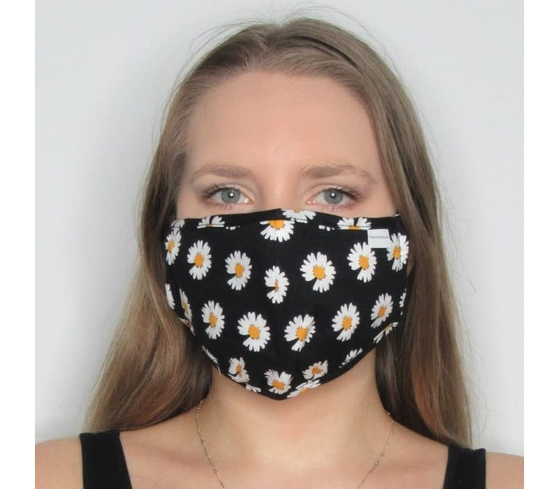 Daisy Cotton Face Mask