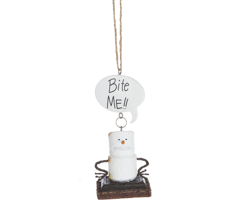 Bite Me Toasted S'more Ornament