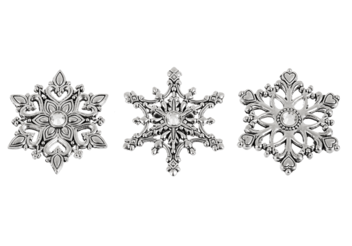 Ganz Heavenly Christmas Snowflake Charm