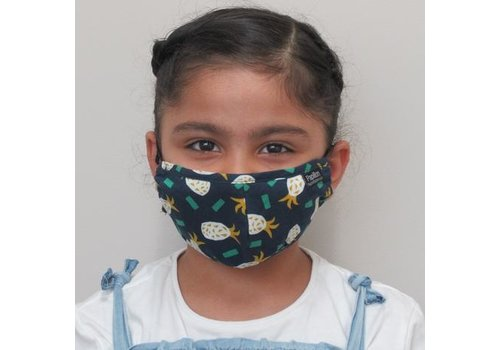 Papillon Kids Pineapple Cotton Face Mask