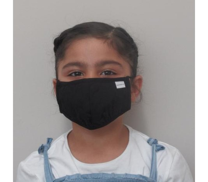 Kids Solid Double Layer Cotton Face Mask