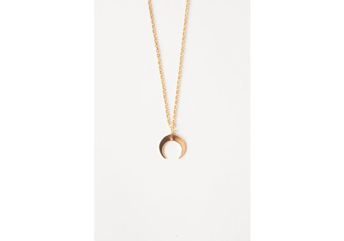 Jewellery By HannahLynn Double Horn Necklace Gold