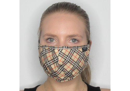 Papillon Plaid Cotton Face Mask