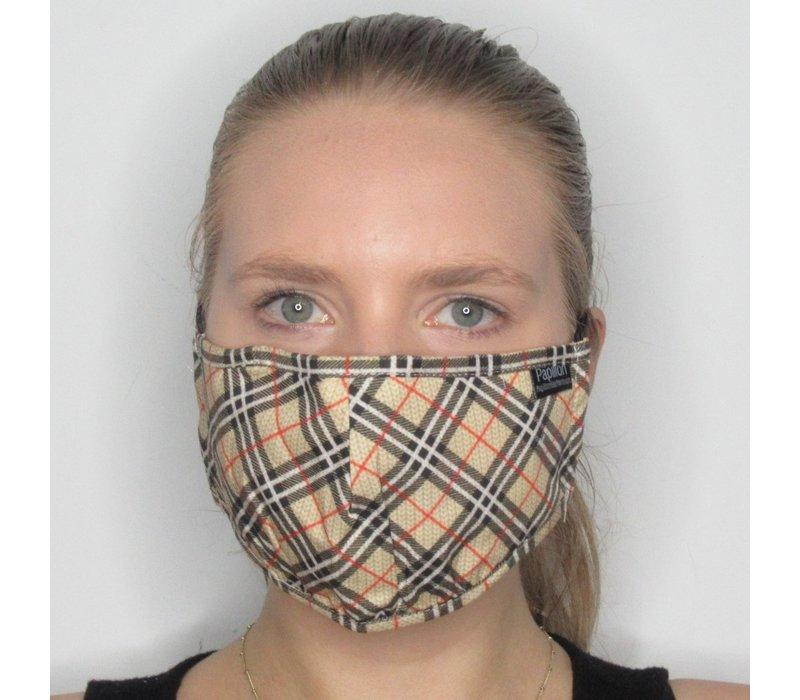 Plaid Cotton Face Mask