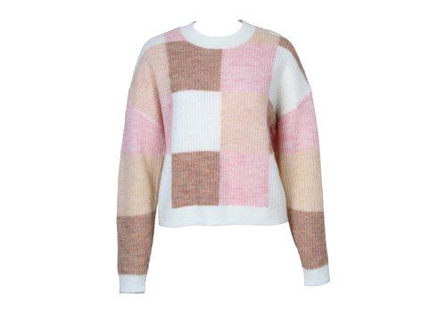 Mink Pink Marlee Patchwork Knit Sweater