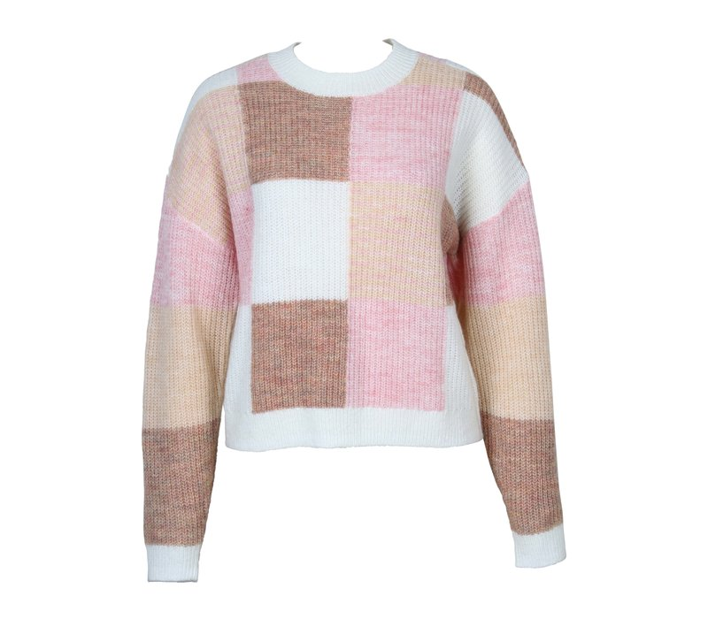 Marlee Patchwork Knit Sweater