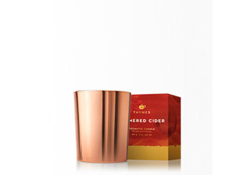 Thymes Metallic Votive Candle Simmered Cider