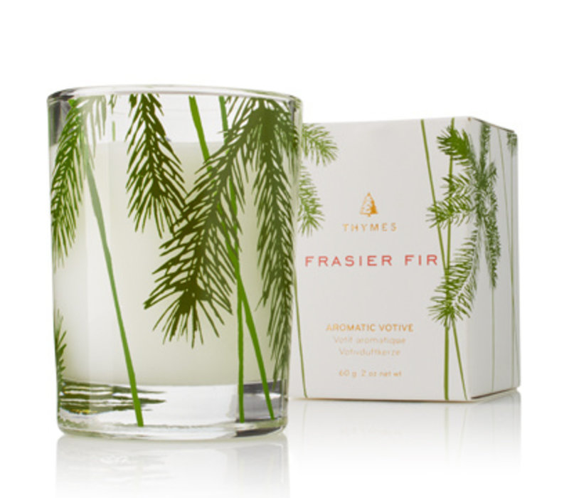 Votive Candle Pine Needle Design Frasier Fir