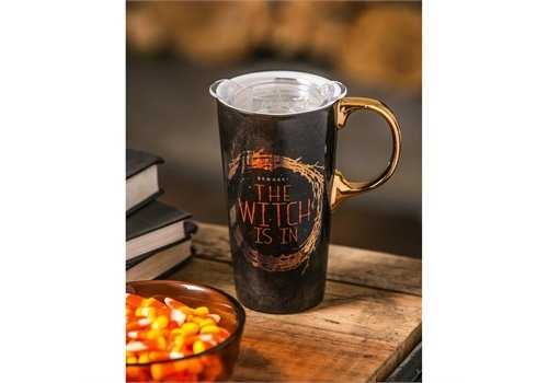 Cypress Home Ceramic Travel Cup The Witch Is In 17oz