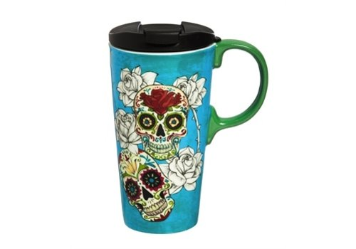 Cypress Home Ceramic Travel Cup Day of the Dead 17oz