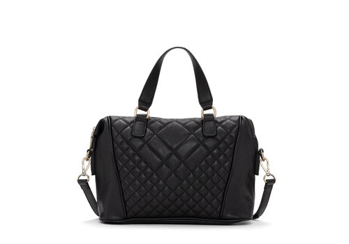 Co-Lab Quilt Satchel Black