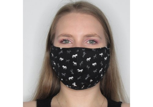 Papillon Horse Cotton Face Mask
