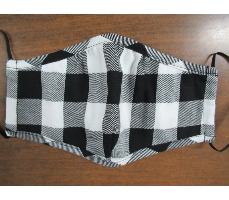 Kids Gingham Cotton Face Mask
