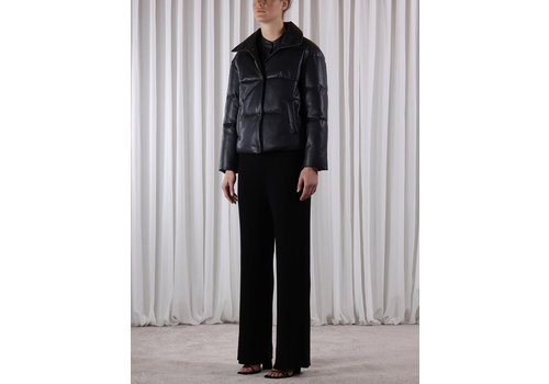 Rino & Pelle Azizi Faux Leather Puffer Jacket