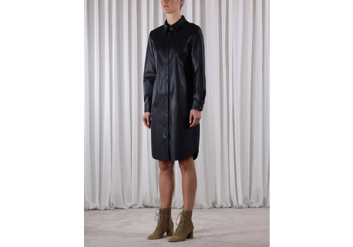Rino & Pelle Mitch Faux Leather Blouse Dress