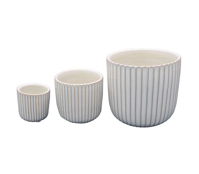 Madelyn Ceramic Round Vase
