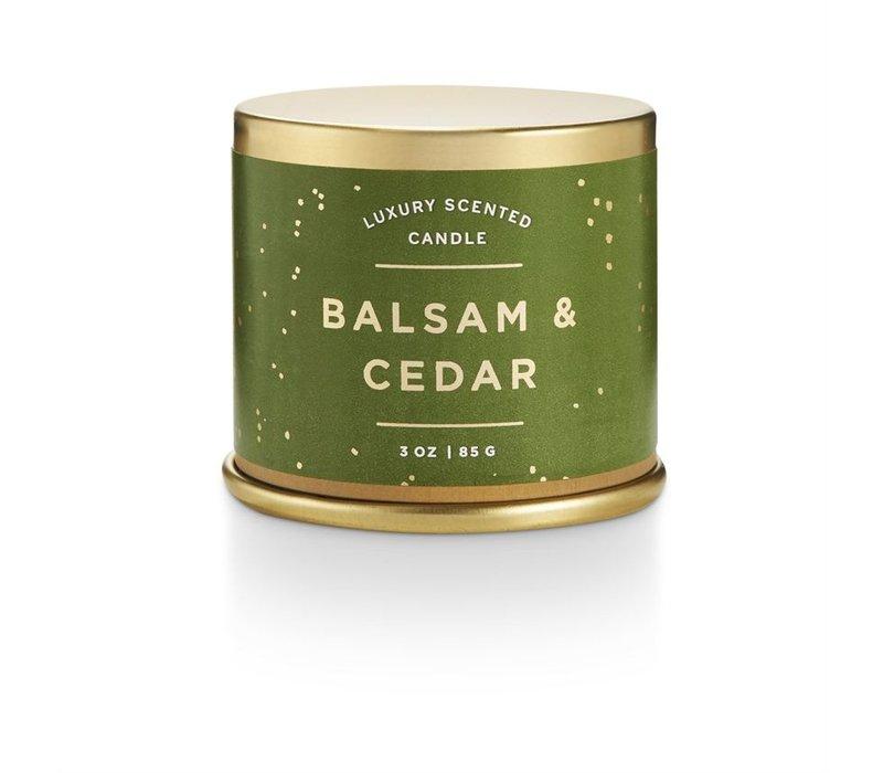 Demi Tin Candle Balsam & Cedar