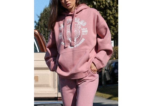 Brunette The Label Leopard Babes Club Big Sister Hoodie