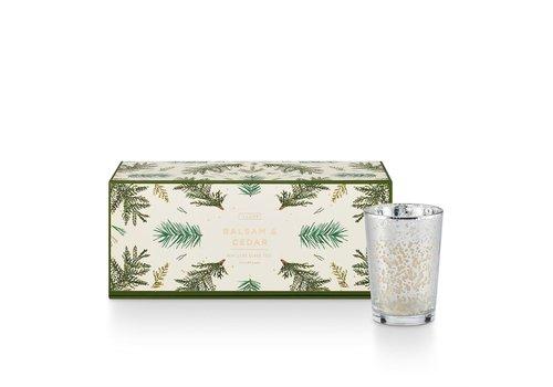 Illume Balsam & Cedar Mini Lux Sanded Mercury Glass Trio