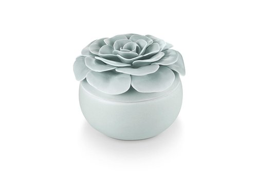 Illume Ceramic Flower Candle Fresh Sea Salt