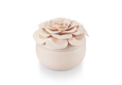 Illume Ceramic Flower Candle Coconut Milk Mango