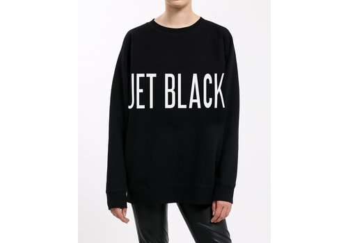 Brunette The Label Jet Black Big Sister Oversized Crew