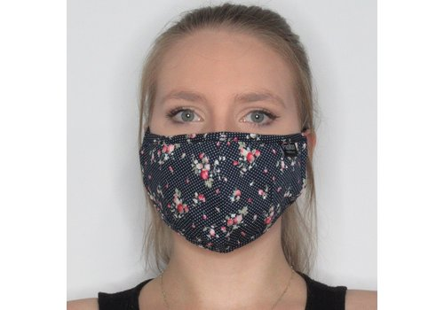 Papillon Dot and Floral Cotton Face Mask