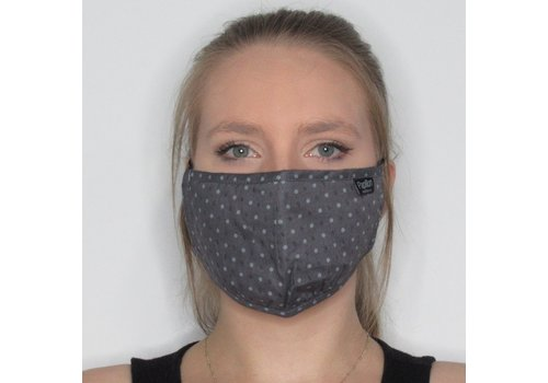 Papillon Heathered Dotted Cotton Face Mask