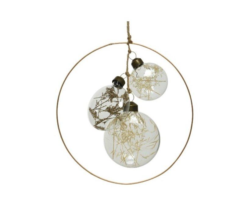 Glass Discs In Bronze Ring