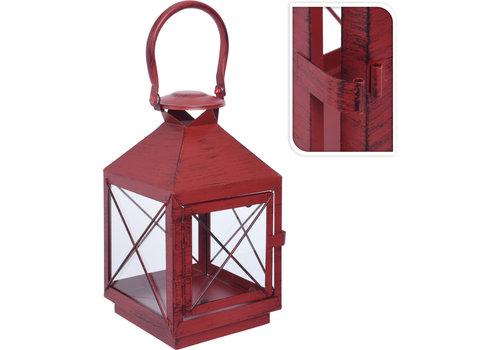 Koopman International Metal Lantern Red