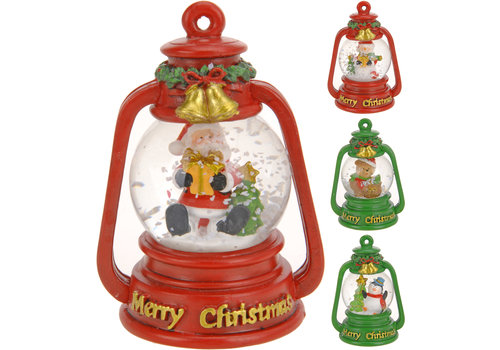 Koopman International Snow Globe Glass Lantern