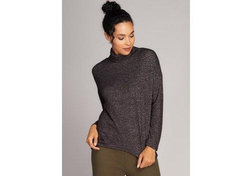 C'est Moi Rayon Soft Knit Turtleneck Top