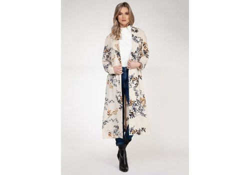 Black Tape Long Sleeve Kimono