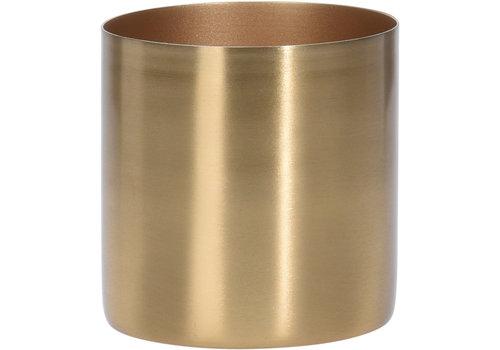 Koopman International Flower Pot Metal Gold