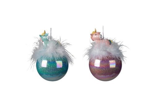 Kaemingk Unicorn Feather Bauble