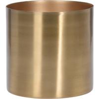 Flower Pot Metal Gold