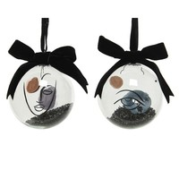 Ribbon Beads Glass Bauble