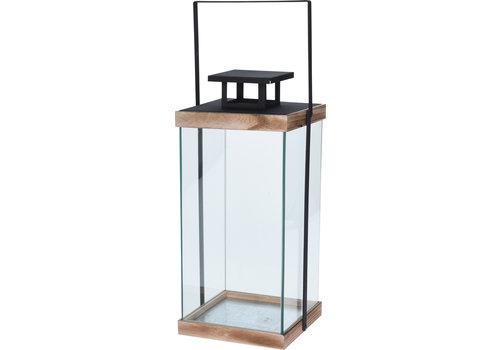 Koopman International Metal Lantern Glass Black 46cm