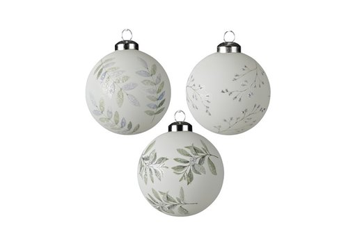 Kaemingk Branch Bauble Winter White