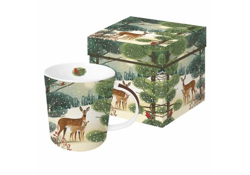 Mug In Gift Box Holiday Meadow