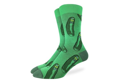 Good Luck Sock Men's Pickle Rick Socks