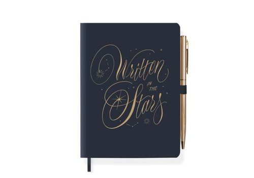 Written Star Journal With Pen