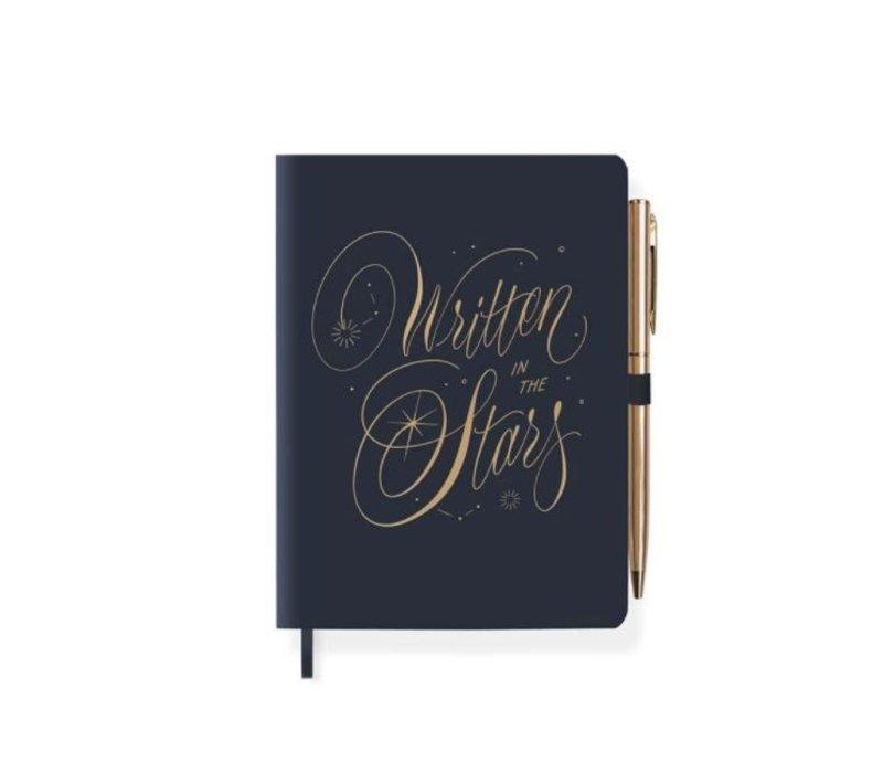 Written Star Journal With Pen