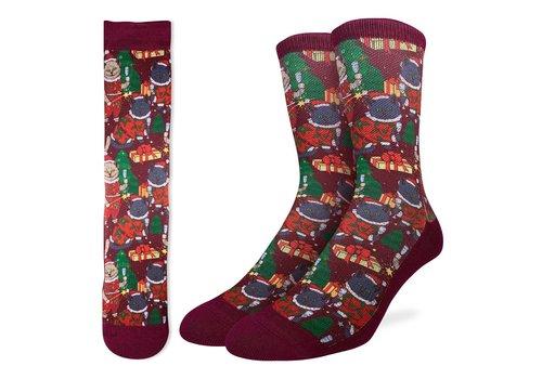 Good Luck Sock Men's Christmas Cats Socks