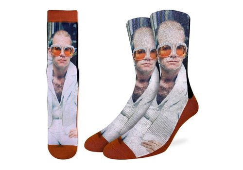 Good Luck Sock Men's Elton John in White Jacket Socks