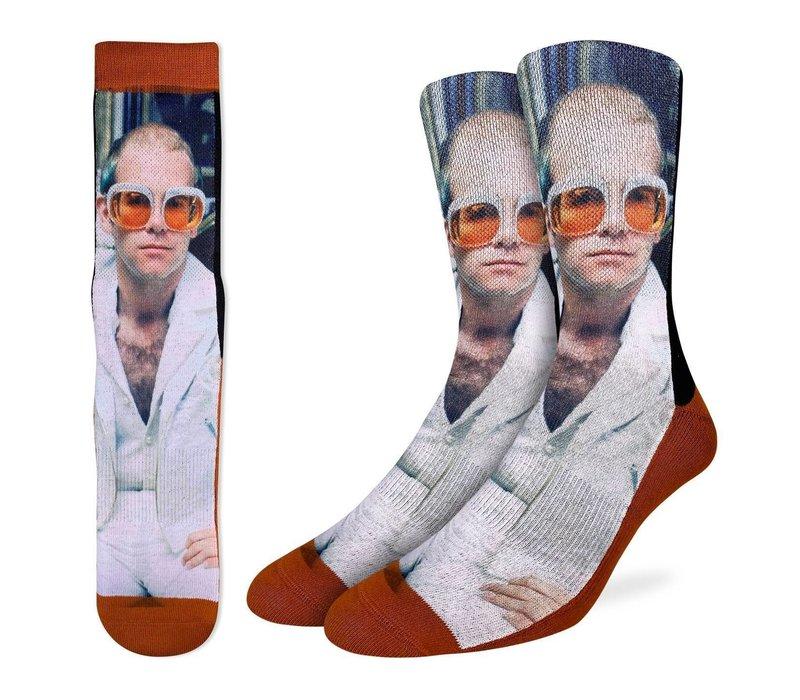 Men's Elton John in White Jacket Socks